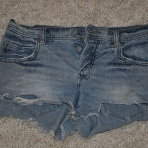 free people jean shorts